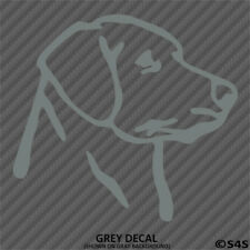 Labrador Head Silhouette Vinyl Decal Sticker Puppy Dog Hunt Lab - Choose Color