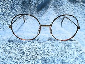 """TORTOISE ROUND 1970'S """"WIRE"""" FRAME NEW & NEVER SOLD"""