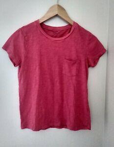 Madewell Crew Neck Tee Pocket Tee Shirt XS Pink G3106 Cotton Casual Short Sleeve