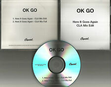OK GO Here it goes again MIXES & EDIT TST PRESS PROMO Radio DJ CD Single okgo