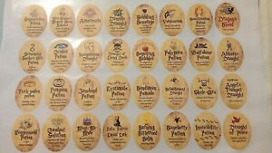 Harry Potter Potion Stickers. 32 oval stickers, 4x3cm, nice size, all different
