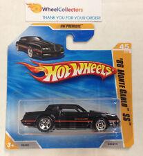 '86 Monte Carlo #45 * Black on Short Card * 2010 Hot Wheels * N73