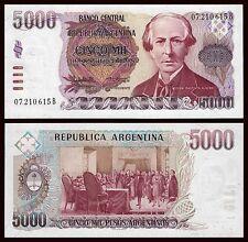Argentina - 5000 Pesos ND 1984-1985  Pick 318  SC = UNC