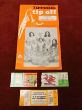 1970 Jimmy England University of Tennessee Vols Basketball Program Ticket Stubs