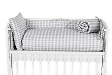 Beistellbett Babybett 90x40 höhenverstellbar Bettset KARO GRAU mit Matratze