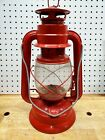 Vintage Red Oil  Lamp Lantern Railroad Christmas Holiday Decor Power Outage