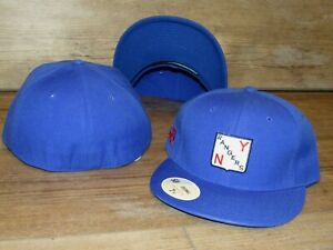 New York Rangers Vintage Crest Stall & Dean Fitted Hat Cap Men's Size 7 5/8