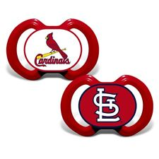 ST. LOUIS CARDINALS 2-PACK BABY INFANT ORTHODONTIC PACIFIER SET MLB BASEBALL