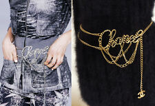 AMAZING CHANEL MULTI CHAIN GOLD SILVER 06P RUNWAY BELT NECKLACE