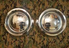 VINTAGE CHEVROLET DOG DISH WHEEL HUB CAPS BOWTIE 1960's 1970's OEM GM