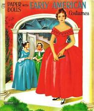Vintage Uncut 1957 Early American Paper Dolls~#1 Reproduction~Orig Sz~Nostalgic