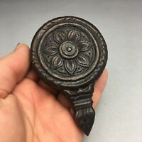 Antique Asian Carved Wood Cambodian Khmer Silk Loom Pulley Heddle 2