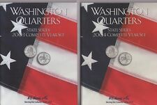 *NEW* LOT OF 2 ALBUMS 2003 & 2004 WASHINGTON QUARTERS STATE SERIES by H E HARRIS