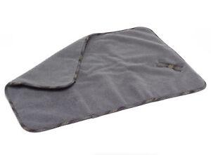 Petface Soft Sherpa Fleece Dog Blanket Grey Tweed Detail Warm Puppy Comforter