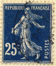 FRANCE - 1907 - Yv.140/Mi.119ax 25c bleu-noir Type 1A - Oblitéré TB (d)