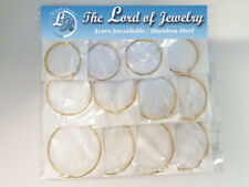 Lot of 12 Stainless Steel Earrings for Women. Wholesale price. - 27DOZ