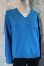 Calvin Klein Blue 100% Cashmere Sweater L Large