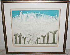 Rare Mario Micossi Original Aquatint Etching / Veduta Di Colloredo / #22/65