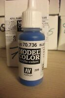 ACRYLIC MODEL PAINT 17ml VAL736 AV Vallejo Model Color - Fluorescent Blue