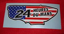 LE MANS LEMANS USA US FLAG TRACK 24 HOUR STICKERS DECALS SRT CORVETTE PORSCHE