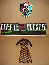 Mattel MONSTER HIGH Doll CREATE-A-MONSTER INSECT BEE DRESS OUTFIT
