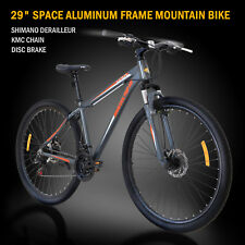 "29"" Aluminum Frame Men's Mountain Bike 21 Speed Shimano Bicycle Grey & Orange"