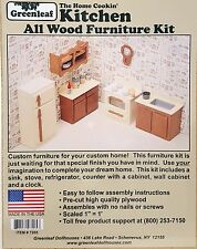 Greenleaf Dollhouse Furniture Kit Home Cookin' Kitchen #7205 NIP
