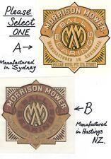 Morrison (Sydney & Hastings) Vintage Motor Mower Repro Side Cover Decals
