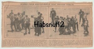 1930's Toronto Maple Leafs Ace Bailey Eddie Shore Incident 6 Original Clippings