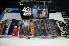 STAR WARS 40th ANNIVERSARY : LOT DE 151 CARTES DIFFERENTES