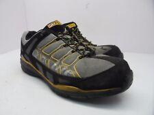 DAKOTA Men's Quad Lite Aluminium Toe Steel Plate Work SHoe Black/Yellow Size 9EE