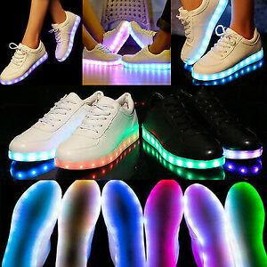 Unisex Men Women LED Light Up Shoes Luminous Flashing Trainers Sneakers Gift UK
