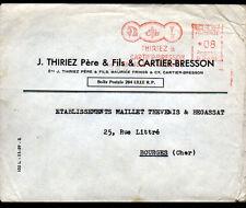 """LILLE (59) USINE de FILS à COUDRE Coton & Lin """"THIRIEZ & CARTIER-BRESSON"""" 1961"""