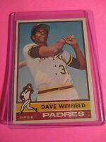 1976 Topps #160 Dave Winfield San Diego Padres VgEx (no creases)