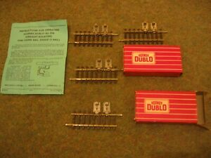 4 x Hornby Dublo 2742 Straight Isolating Rails  One Third Single - New Boxed
