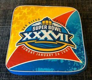 2003 NFL Super Bowl XXXVII Seat Cushion Tampa Bay Buccaneers Oakland Raiders