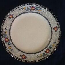 """Antique Burleigh Ware Premier #657114 Flo Blue 9"""" Plate Mosaic England - RARE!"""