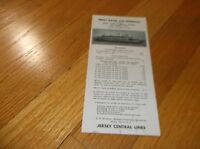 OCTOBER 1961 CNJ JERSEY CENTRAL JERSEY CITY, NJ FERRY SERVICE PUBLIC TIMETABLE