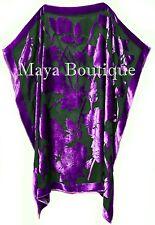 Caftan Dress Kimono Silk Burnout Velvet Purple Black Hand Dyed Maya Matazaro