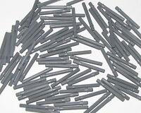 Lego Lot of 100 New Dark Bluish Gray Technic Axles 5.5 with Stop Pieces