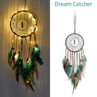 LED Light Dream Catcher Feathers Home Car Wall Hanging Decoration Ornament Gift