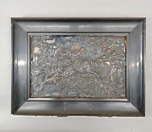99838059 Reliefbild Wildschweinjagd 1.H.20.Jh. Metall gerahmt  50x37cm