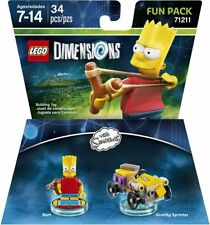Lego Dimensions Video Game - Simpsons - 71211 Bart & Gravity Sprinter - New