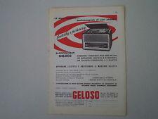 advertising Pubblicità 1959 RADIO FONOGRAFO GELOSO