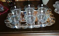 Teeservice 6 Gläser versilbert Guter Zustand Schnäppchen Top Geschenk
