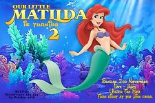 THE LITTLE MERMAID Girls Invitation ARIEL Digital File Birthday Party Invite