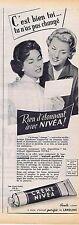 PUBLICITE ADVERTISING 015 1956 CREME NIVEA pour les mains
