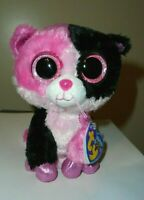"""CT* Ty Beanie Boos - DAZZLE the Cat 6"""" (Justice Exclusive) NEW with CREASED TAG"""