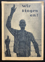 1947 Innsbruck Austria Postcard Cover Concentration Camp Liberation Anniversary