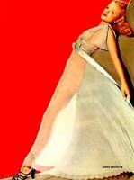 Anne Francis 1953 Vintage Pinup Litho Frank Powolny Photo Publicity Promo COA
